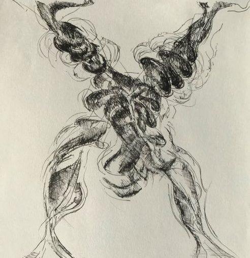 pentekening acrobaat door Martijn Kuijs