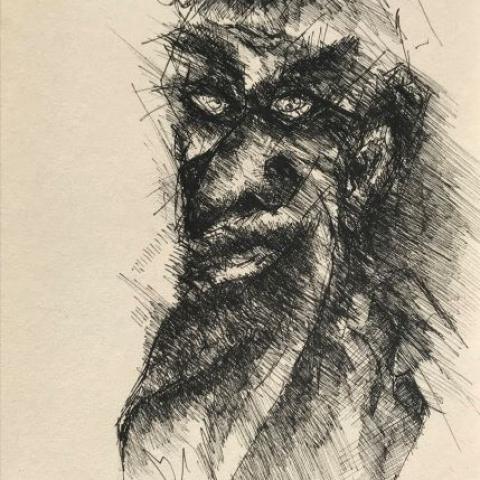 pentekening donker door Martijn Kuijs
