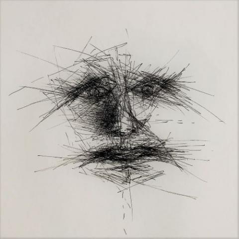 pentekening gezicht door Martijn Kuijs