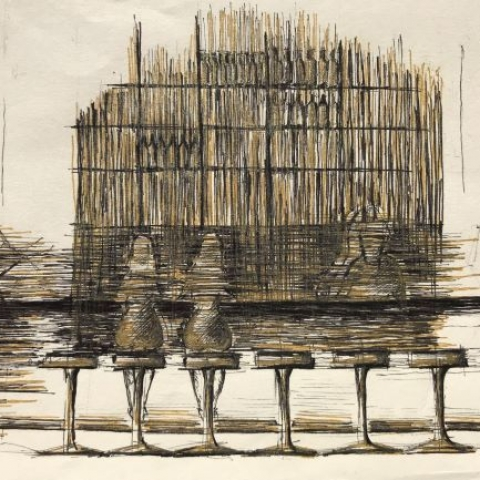 pentekening Amsterdam door Martijn Kuijs