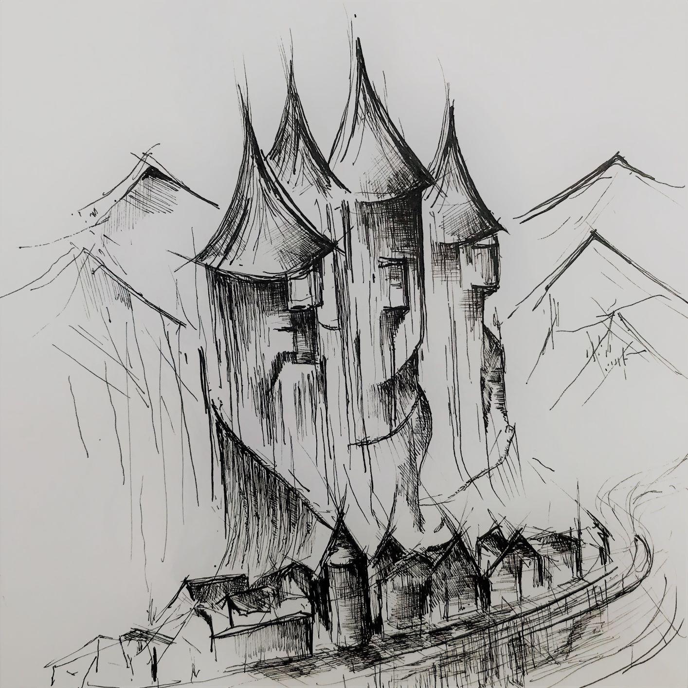 pentekening dominant door Martijn Kuijs