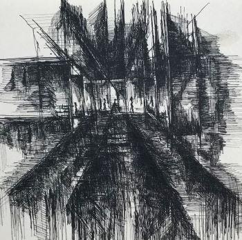pentekening labyrint door Martijn Kuijs