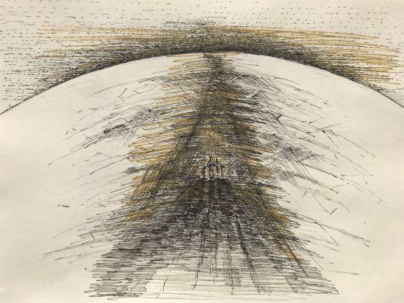 pentekening tunnel door Martijn Kuijs