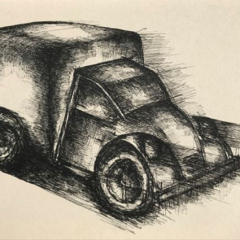 pentekeningen auto door Martijn Kuijs